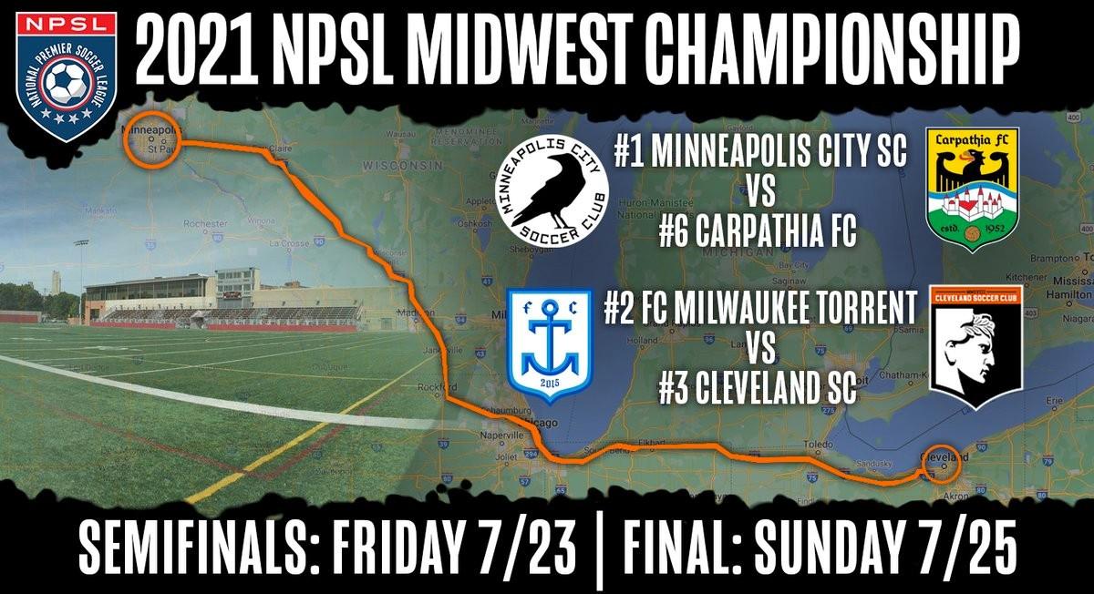 NPSL Midwest Region Round Up: First Round Playoffs - Northern Lights Football